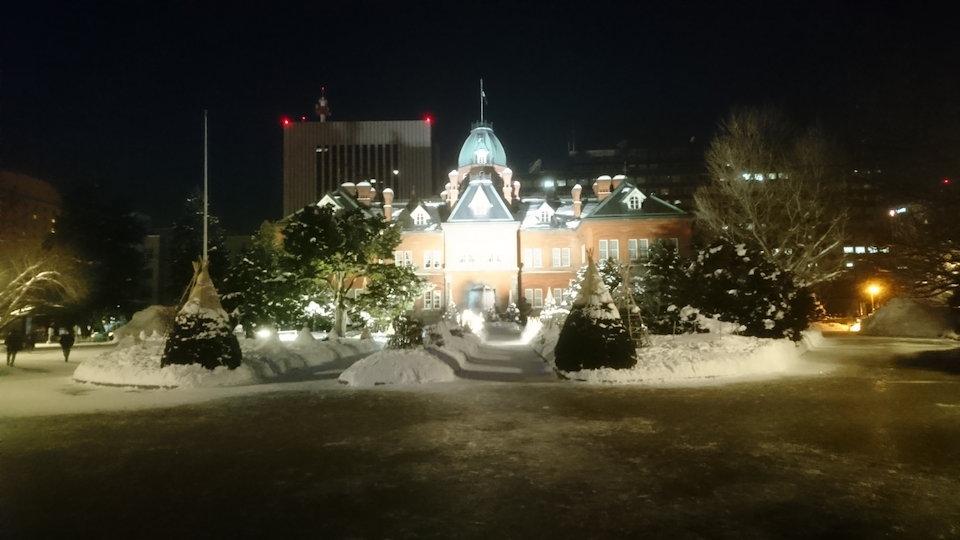 赤レンガ庁舎ライトアップ