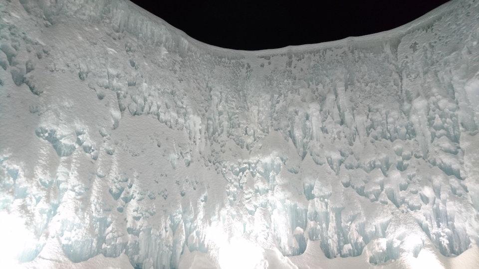 支笏湖氷濤まつりブルーシャトー付近高壁