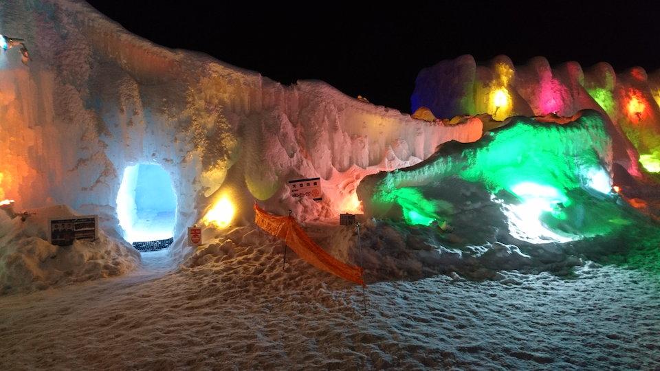 支笏湖氷濤まつり天空回廊入口