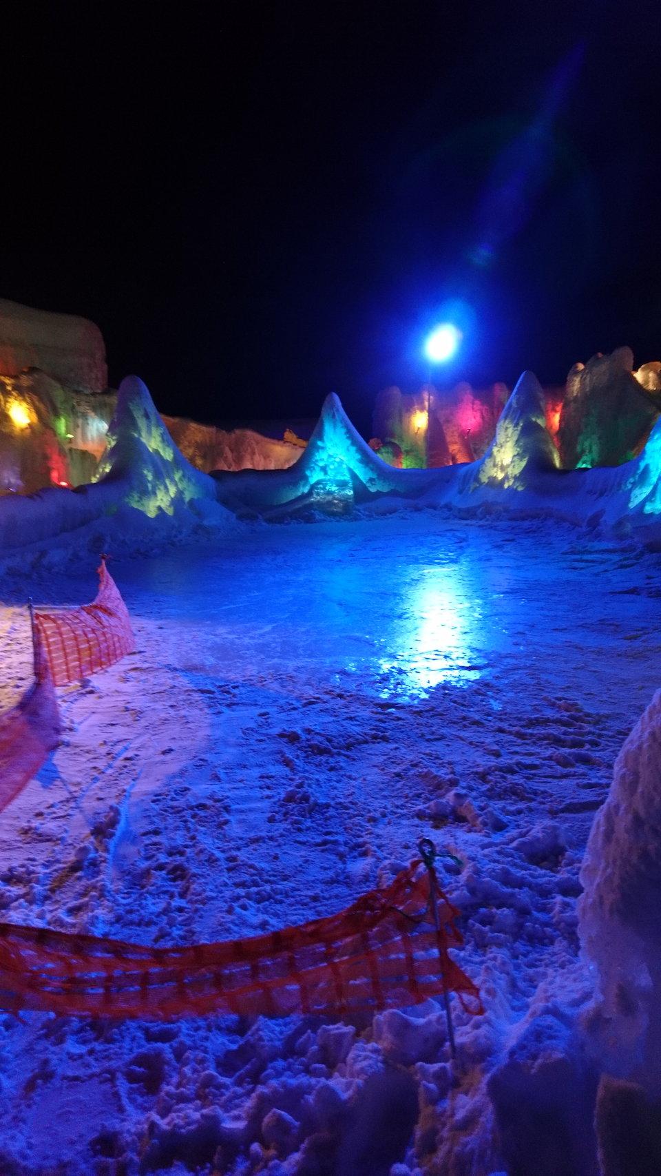 支笏湖氷濤まつりスケートリンク