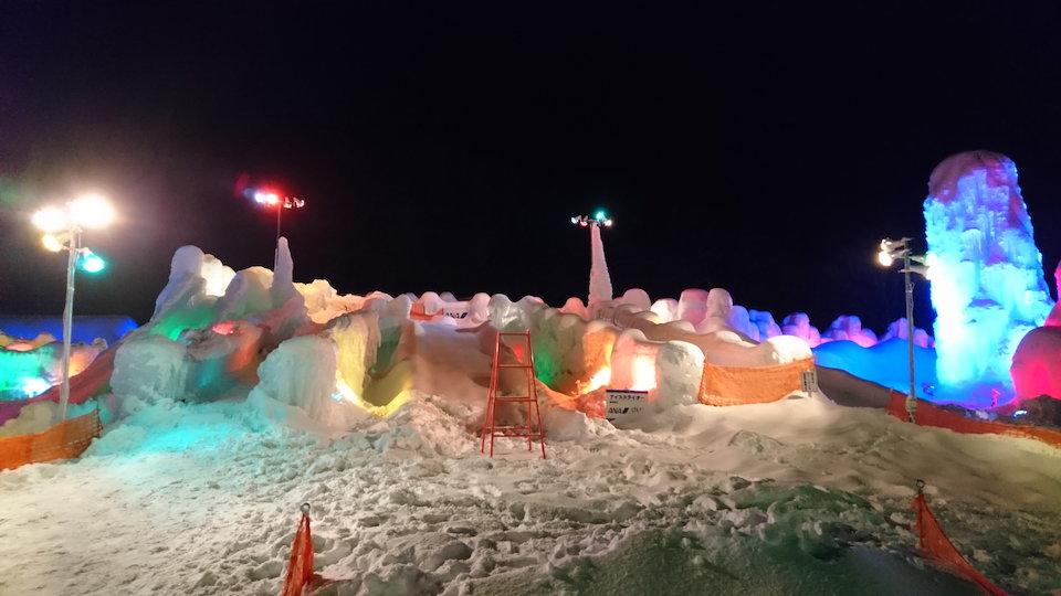 支笏湖氷濤まつり滑り台