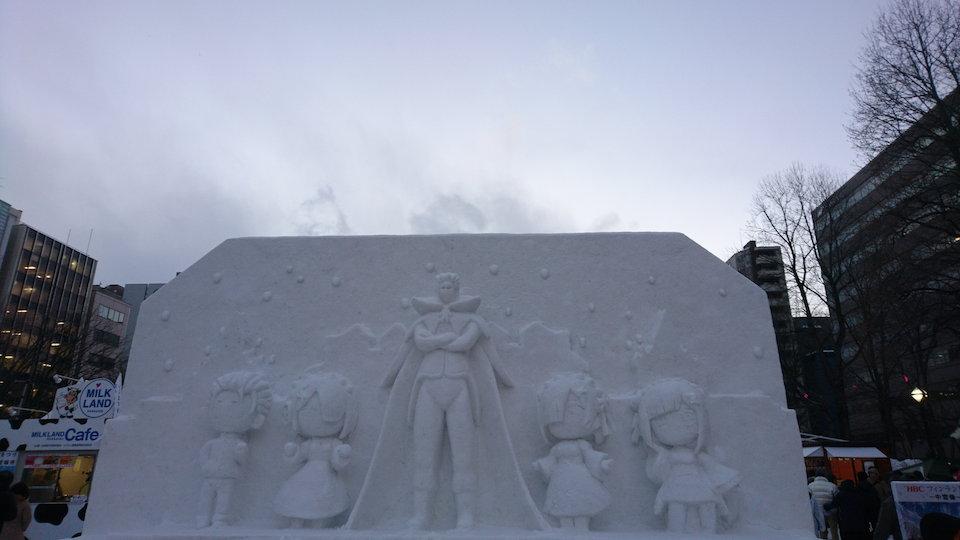 さっぽろ雪まつりのRe:ゼロから始める異世界生活の雪像