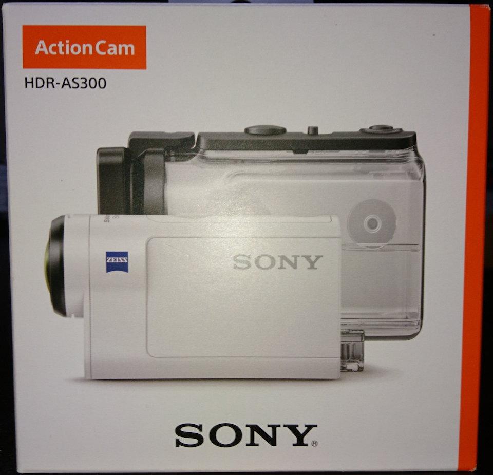 ソニーのアクションカムHDR-AS300の箱