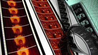 数種類の映画フィルム