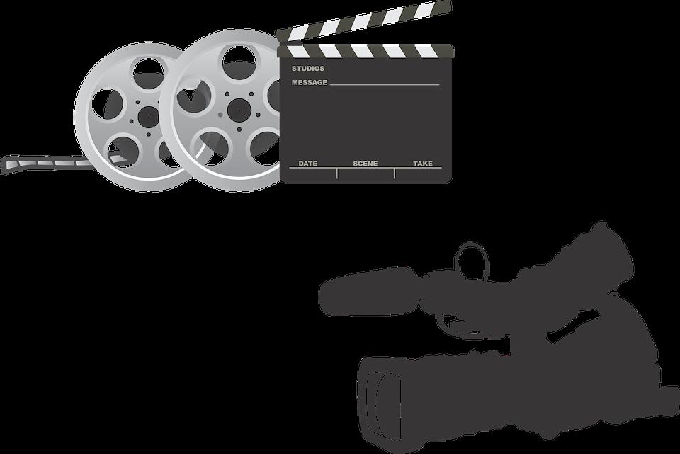映画撮影のカメラやフィルムなどの機材