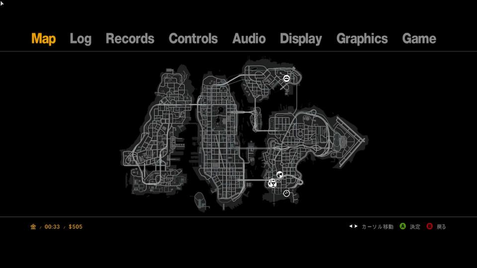 GTA4のリバティーシティマップ
