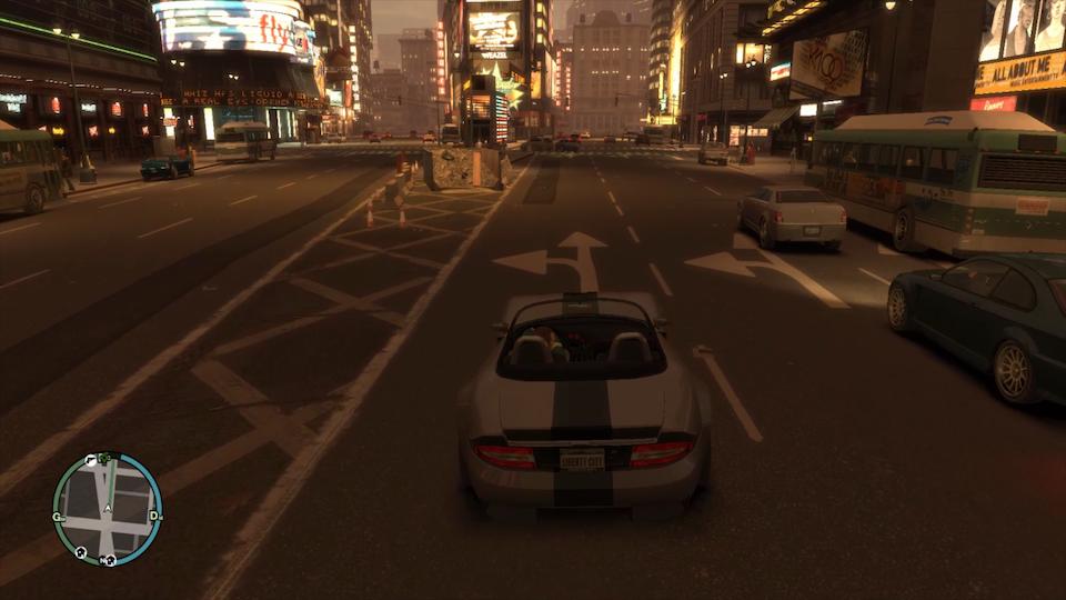 GTA4のタイムズスクエア前