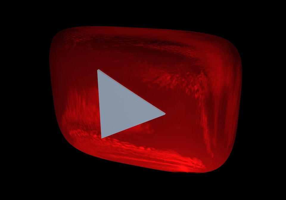 YouTubeのスタートボタンに似たロゴ