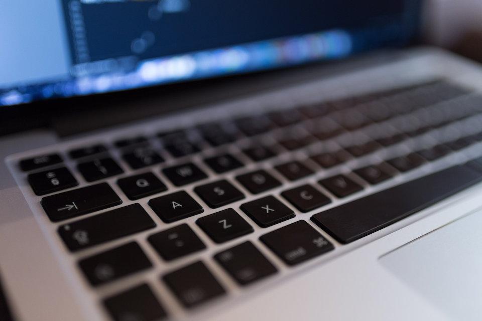 ラップトップパソコンのキーボード