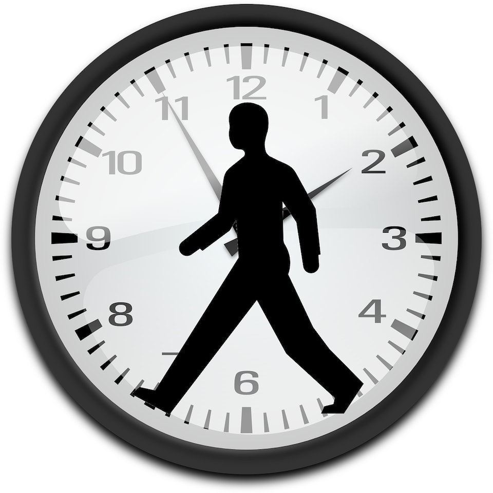 歩く人 シルエット 時計 文字盤