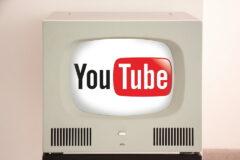 YouTube テレビ レトロ モダン シンプル