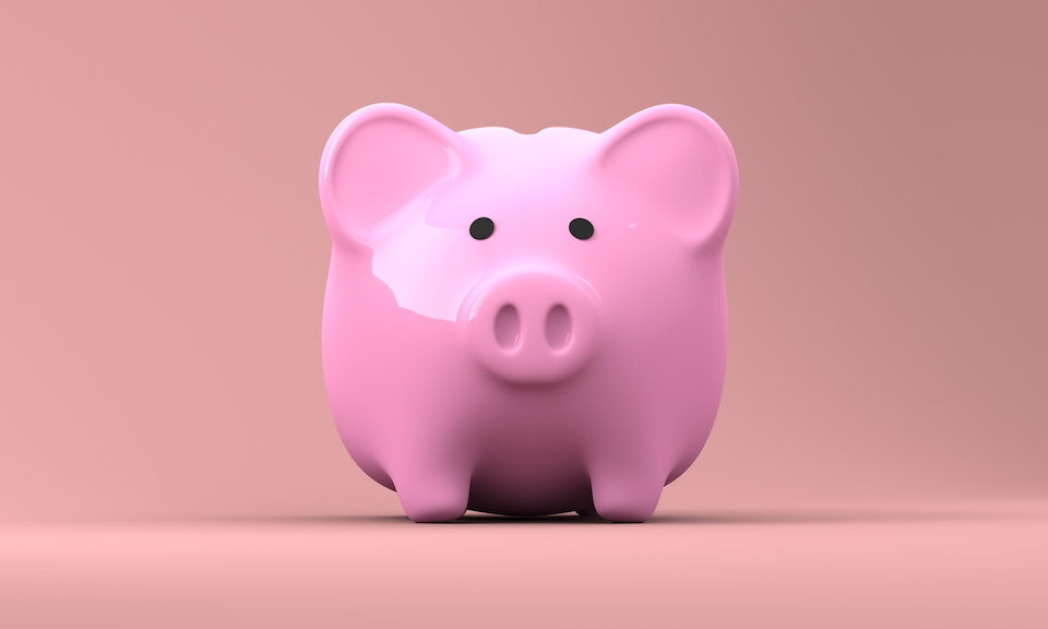貯金箱 ブタ ピンク