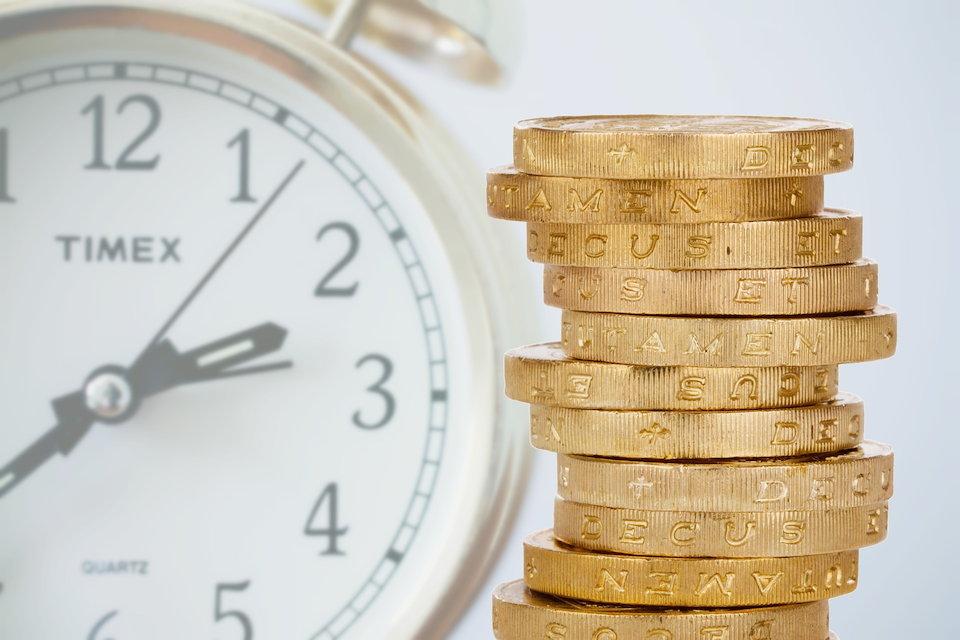 時計 時間 硬貨 お金