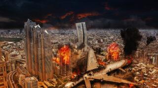 クラッシュ 都市 災害 火災 飛行機 墜落