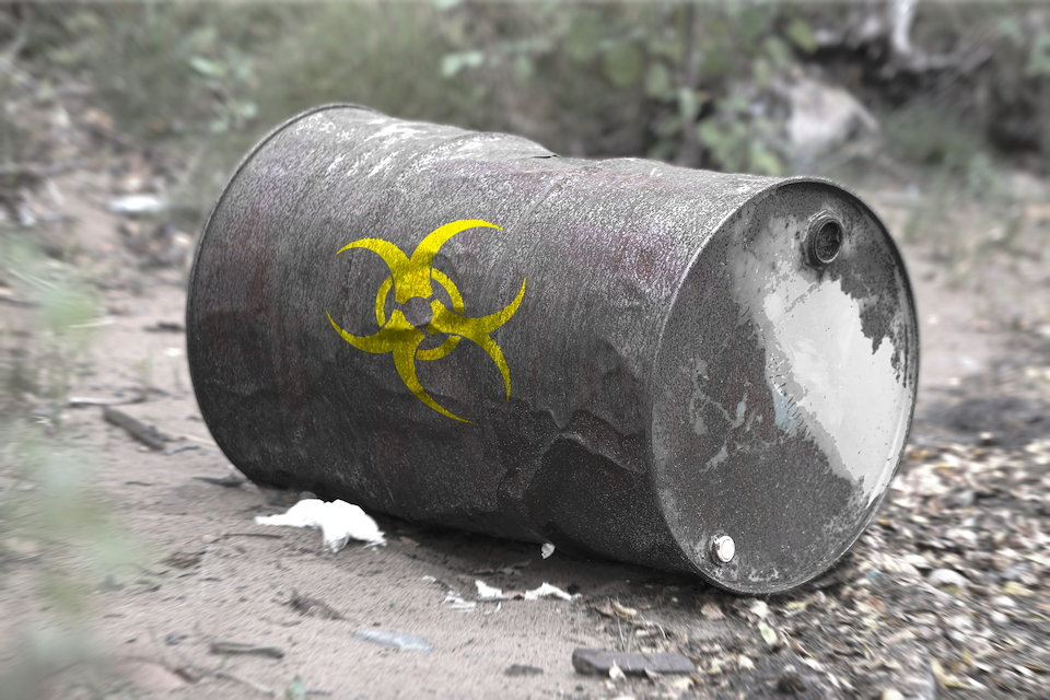 危険物 有毒 ドラム缶 汚染