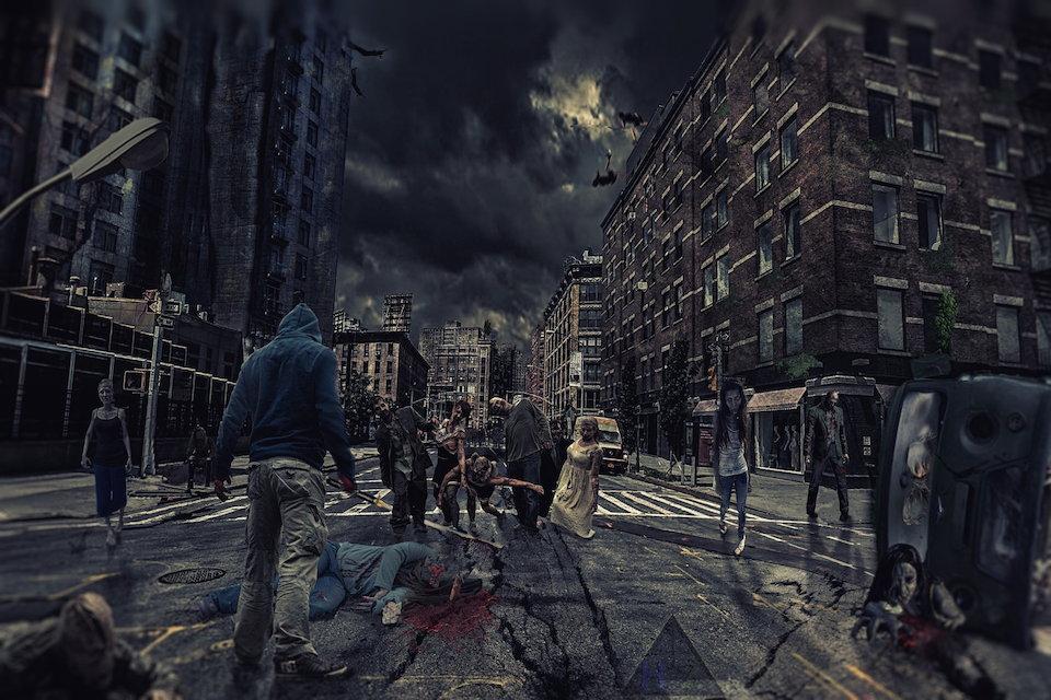 ゾンビ 都市 荒廃 廃墟